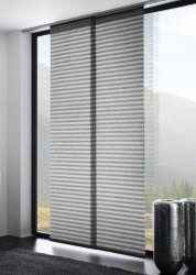 Flachenvorhang Schiebegardine Flow Transparent Horizontale Streifen Struktur Farbe Grau 60x245cm Hochwertige Verarbeitu Flachenvorhang Vorhange Raumteiler