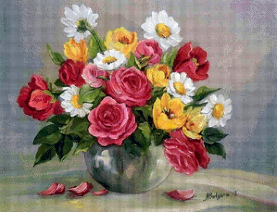 букет цветов в вазе - Схемы вышивки - Kandy2 - Авторы ...