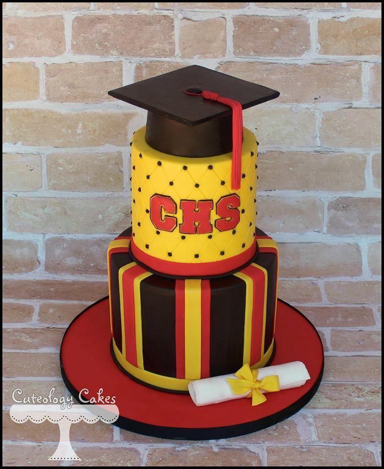 High School Graduation Cake- Chaparral  www.facebook.com/i.love.cuteology.cakes