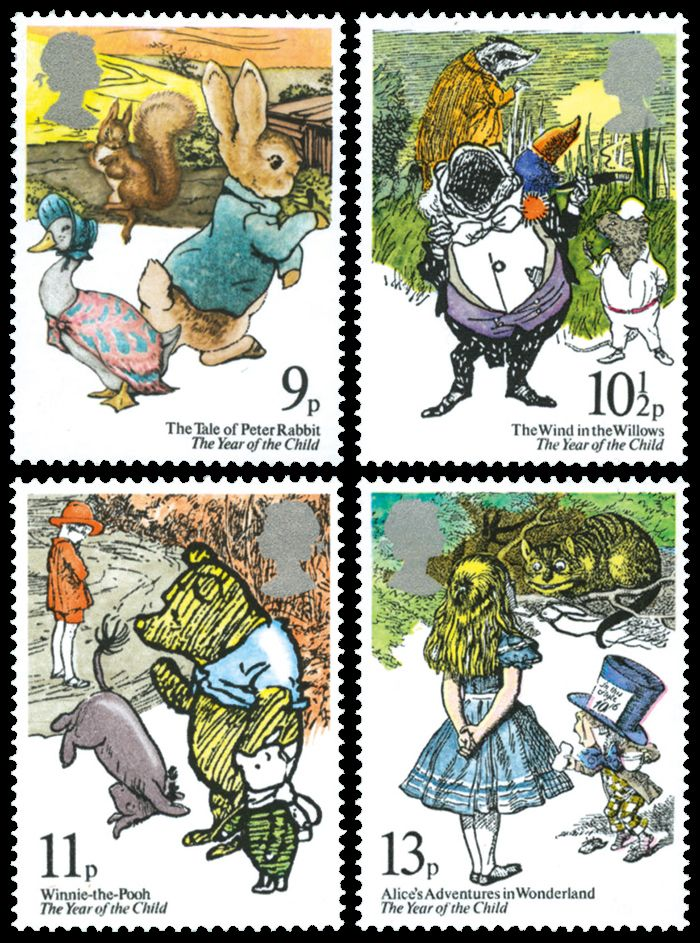 Stamp U.K. 1979 with children's books' illustrations
