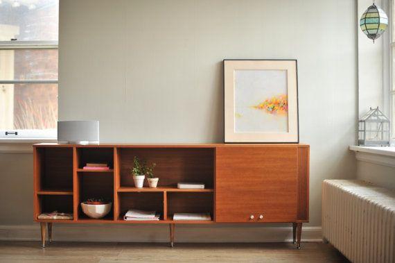 Sold Scandinavian Teak Credenza Tv Stand Entertainment Center Mid Century Credenza Teak Furniture