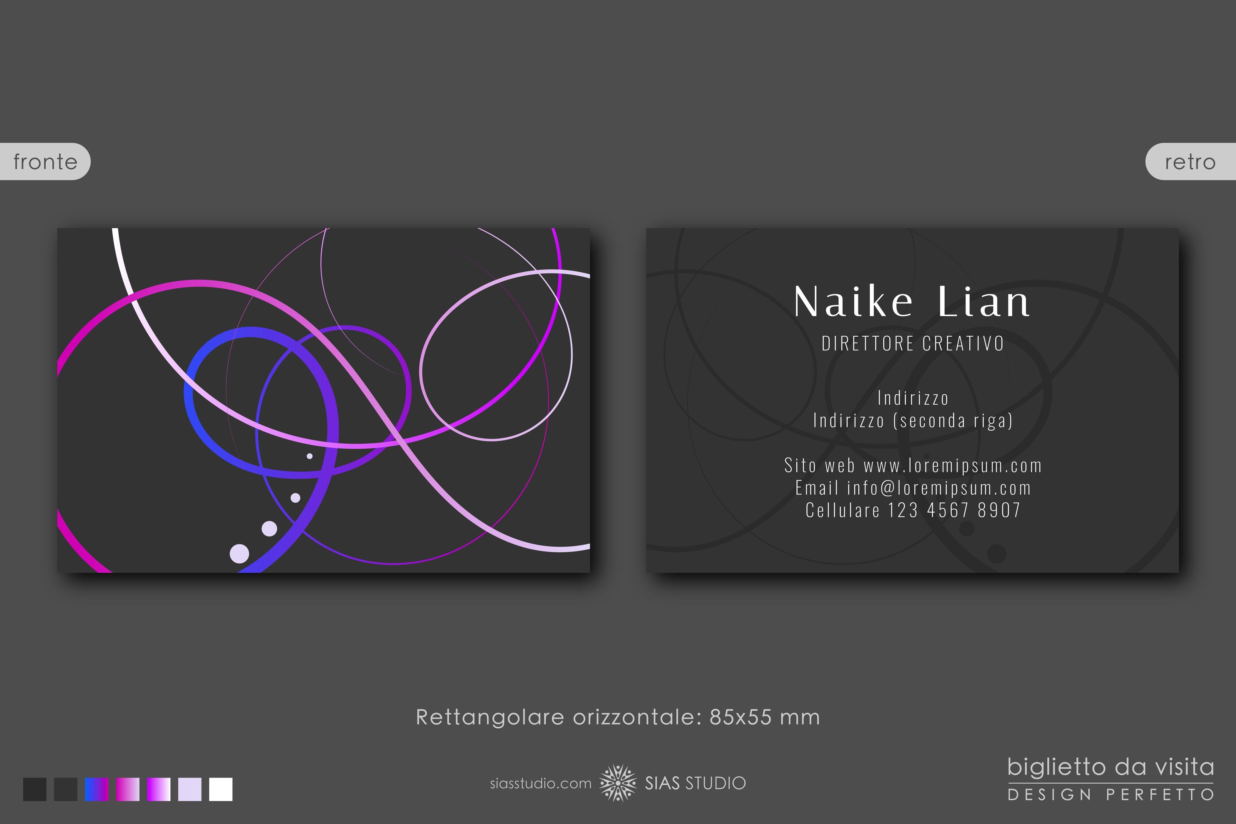 Modello Per Biglietto Da Visita Naike Lian Design Creativo