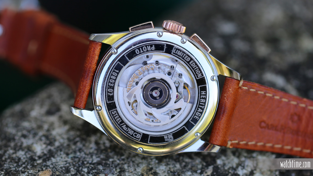 Carl F Bucherer Heritage Bicompax Annual Caseback The Movement Offered Inside Is Automatic Caliber Cfb 1972 That Watches For Men Carl F Bucherer Heritage