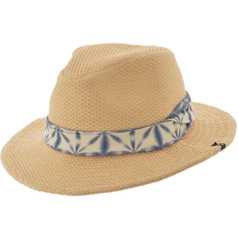 SOMBRERO AUSTRALIANO RAFIA RIVERA Sombrero en rafia tejido artesenal Modelo  australiano con ala de 7 cm. y altura de copa de 9 cm Terminado en panuelo  ... 132e3a4c0a5