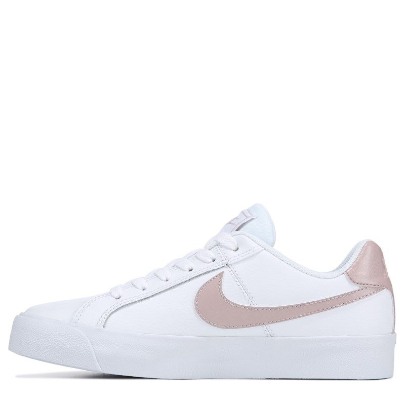Nike Women S Court Royale Sneakers White Particle Rose Aesthetic Shoes Sneakers White Nike Women