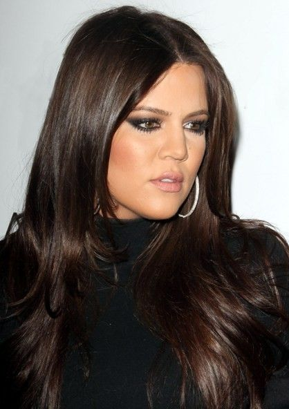 Love Her Glossy Dark Brown Hair Khole Kardashian Hair Color Formulas Brunette Hair Color Kardashian Hair Color