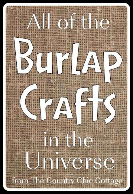 Burlap Crafts - get the entire collection -   25 burlap crafts board