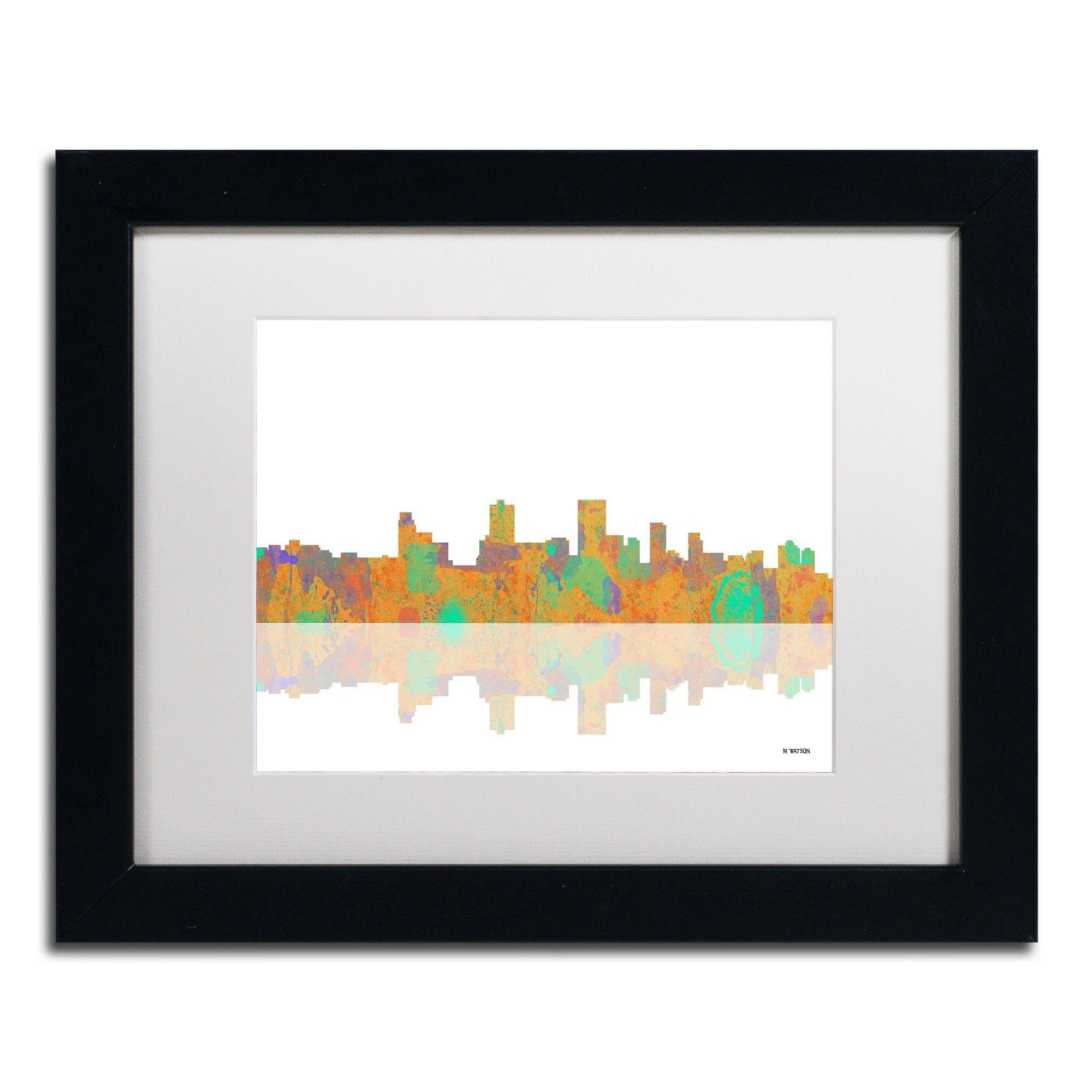Color art anchorage - Anchorage Alaska Skyline Iii By Marlene Watson Framed Graphic Art