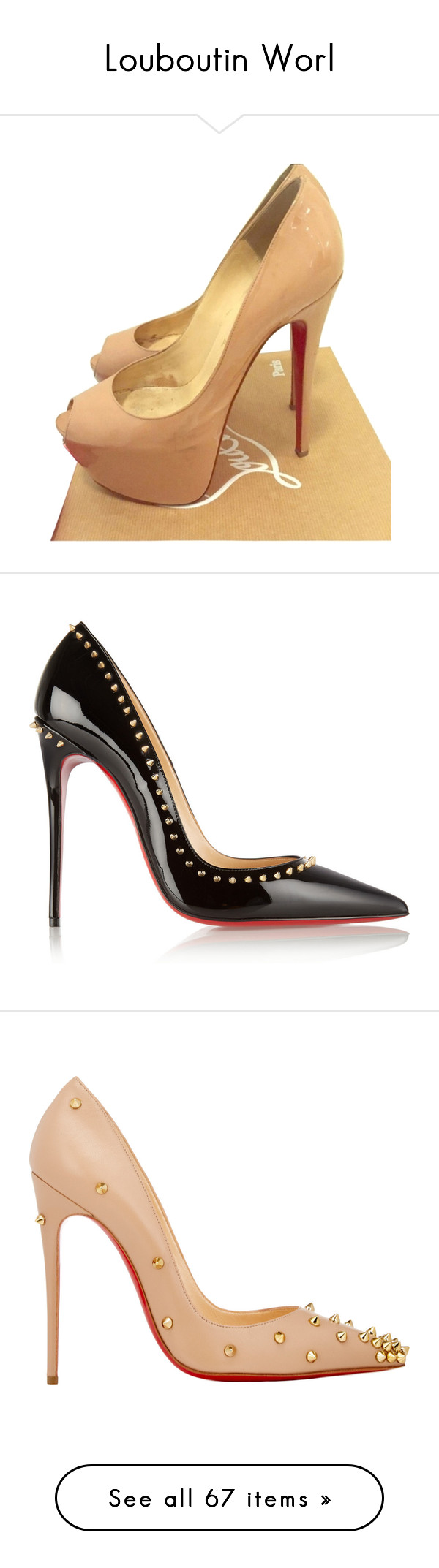 """Louboutin Worl"" by gabriel-sampaiooo on Polyvore featuring shoes, pumps, nude, christian louboutin, nude shoes, nude court shoes, nude pumps, christian louboutin pumps, heels e scarpe"
