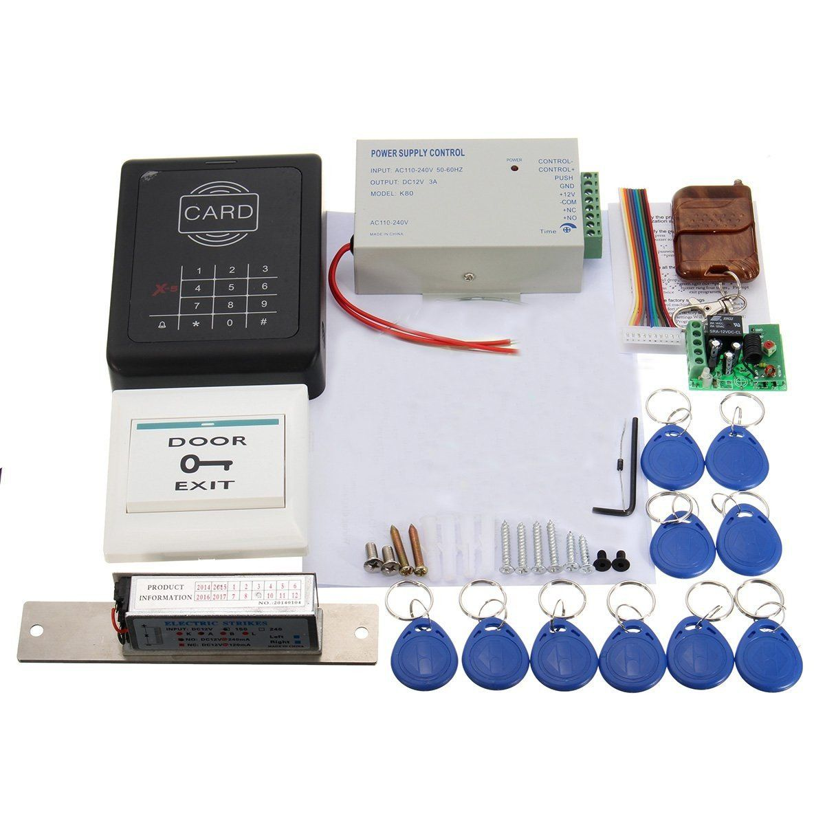 MJPT001 Electric Door Lock Magnetic RFID Entry Access Control Password Entry System
