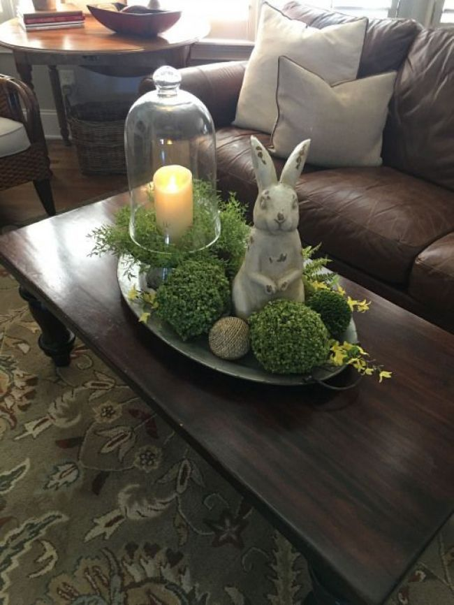 Coffee Table Tray I Made For Spring Rabbithouses Rabbit