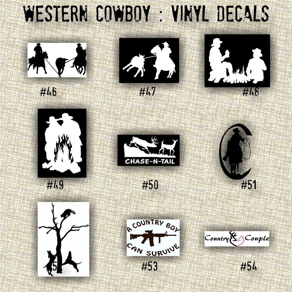 Pin On Vinyl Decals Western Cowboy And Cowgirl