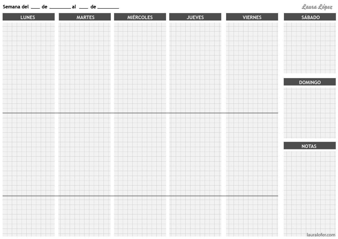 Organizador semanal | Organización casa | Pinterest | Organizador ...