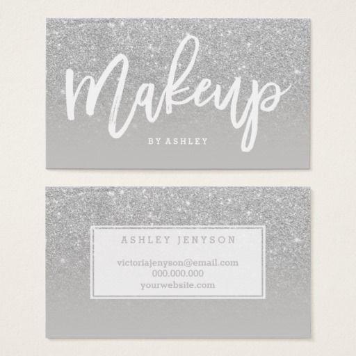 Makeup artist elegant typography silver glitter business card makeup artist elegant typography silver glitter business card colourmoves