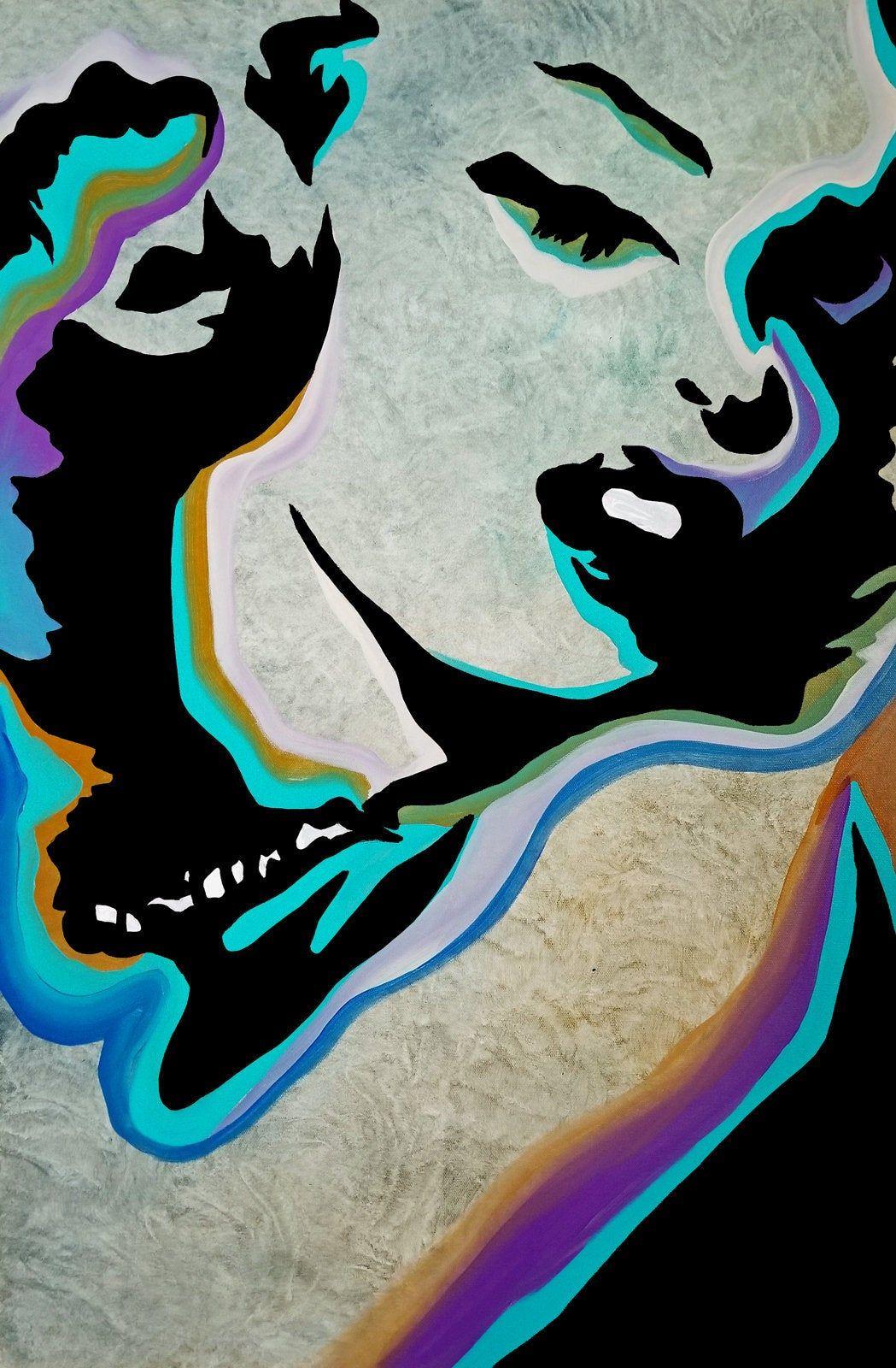 Abstract painting modern original pop art contemporary