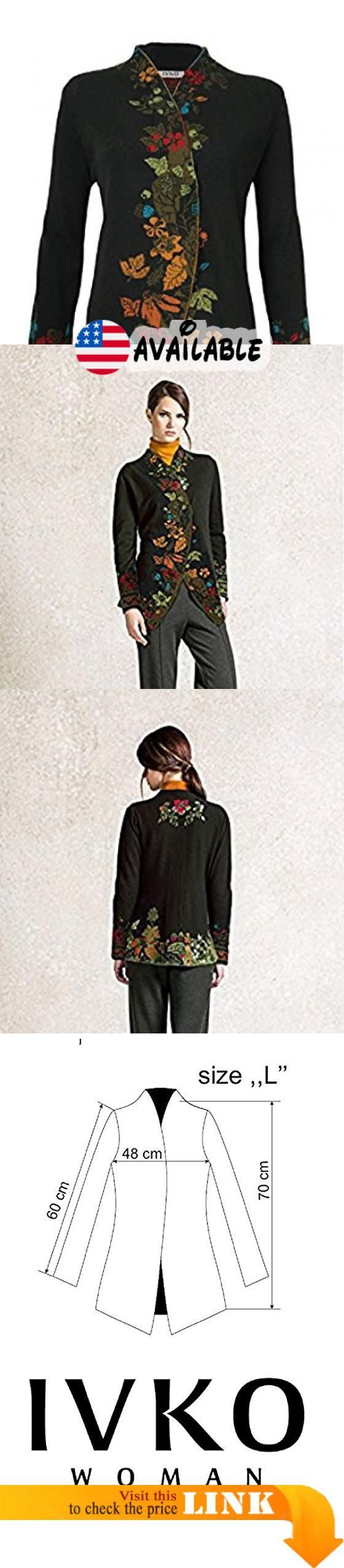 B01K9Y2NGU : IVKO Cardigan Intarsia Pattern Forest (US 10 - EUR 40). Seriously luxurious woolen jacket with a cross-over high collar that instantly adds up nobility to your posture. Rich intarsia representing autumn forest motifs dramatically enhances monochrome basis of the piece. #Apparel #SWEATER