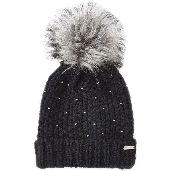 Steve Madden Winter Glint Knit Pom-Pom Beanie ($13) ❤ liked on Polyvore