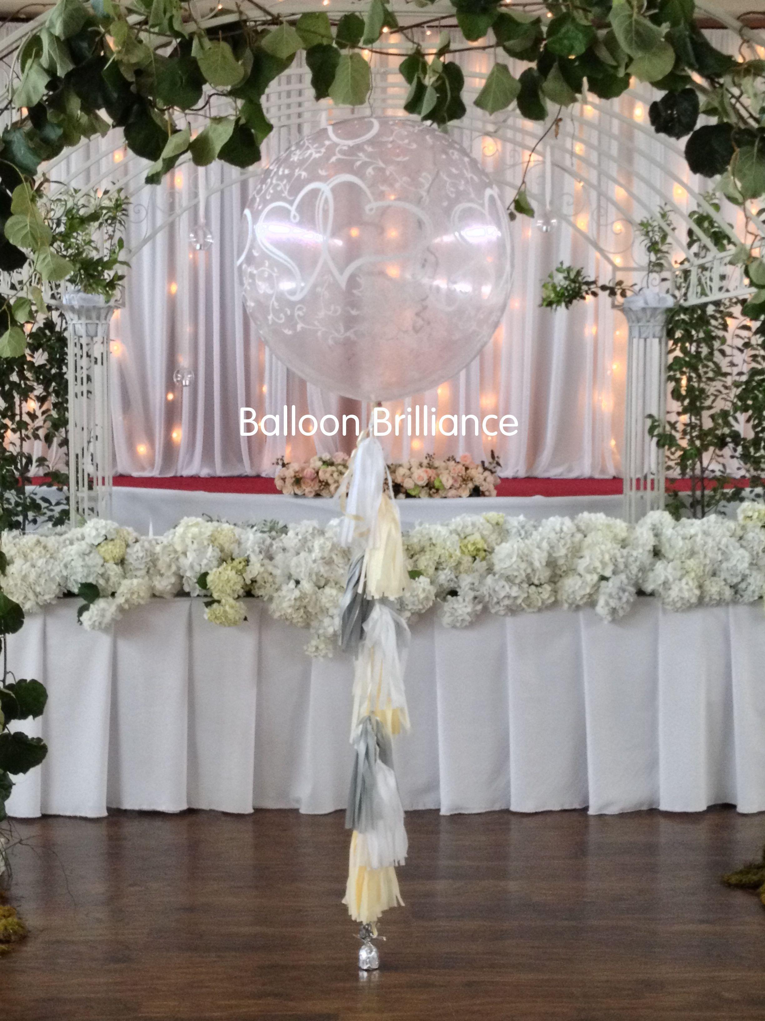 3foot Giant Jumbo Printed Balloon Tassels Engagement Wedding