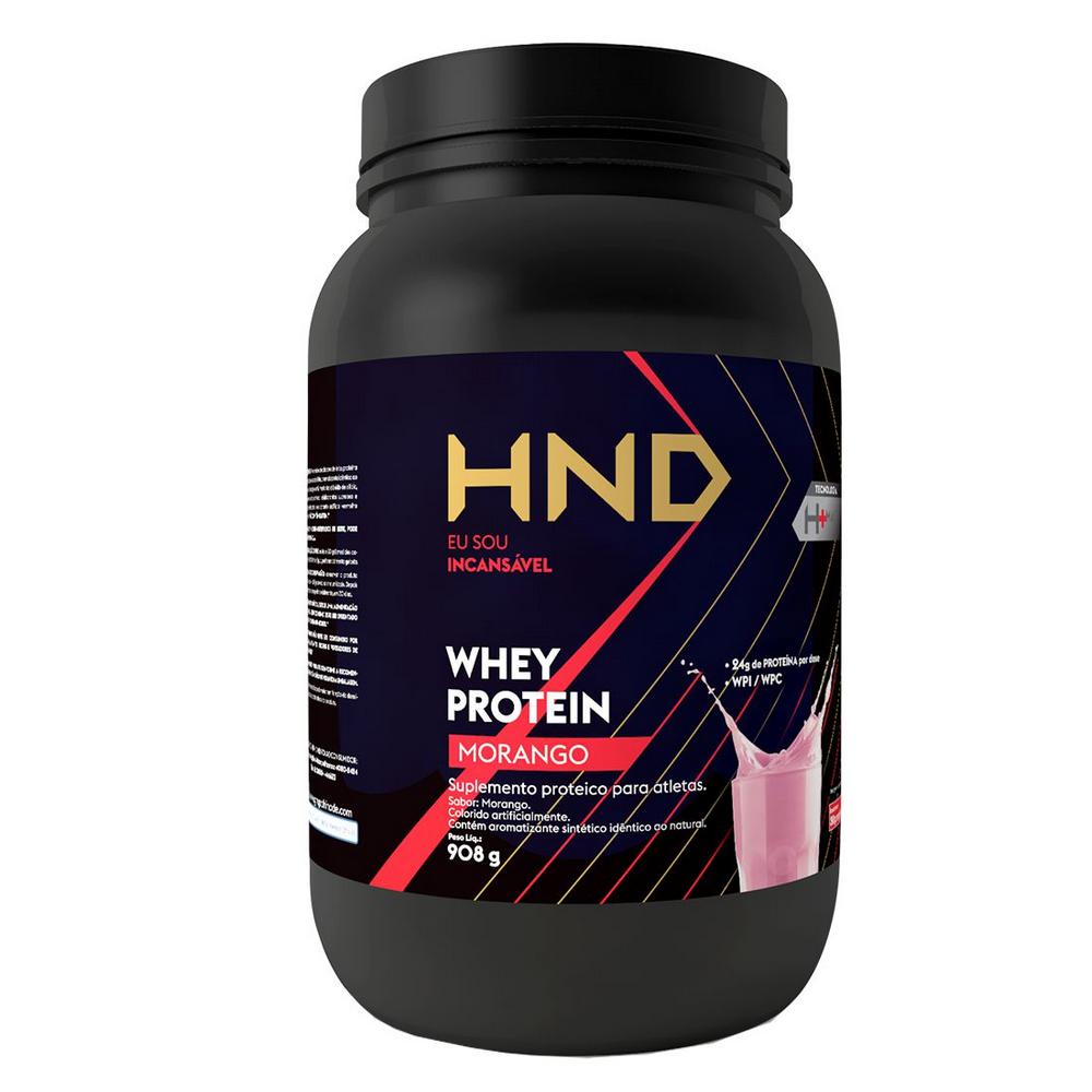 e79b03318 HND Whey Protein Morango Hinode 908g