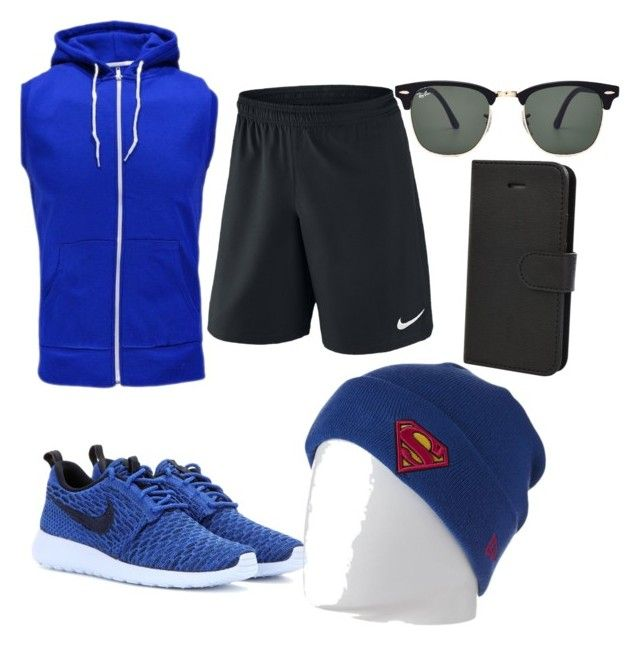 Weekend Run by fallonthompson on Polyvore featuring polyvore, fashion, style, NIKE, New Era and Ray-Ban