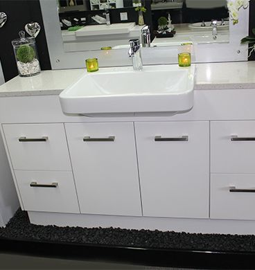 Custom Vanity Unit 1500mm With Semi Recessed Basin Semi Recessed