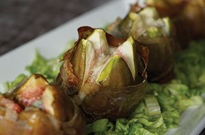 Figs wrapped in salty prosciutto and stuffed with cheese then topped with honey are the perfect fusion of salty and sweet on your palette. Ready in 10 mins
