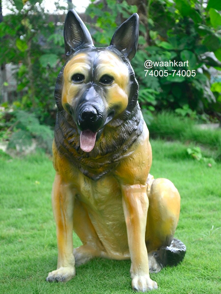 Frp Dog Figurine Statue German Shepherd Waahkart Dogs Dog Lovers Dog Figurines