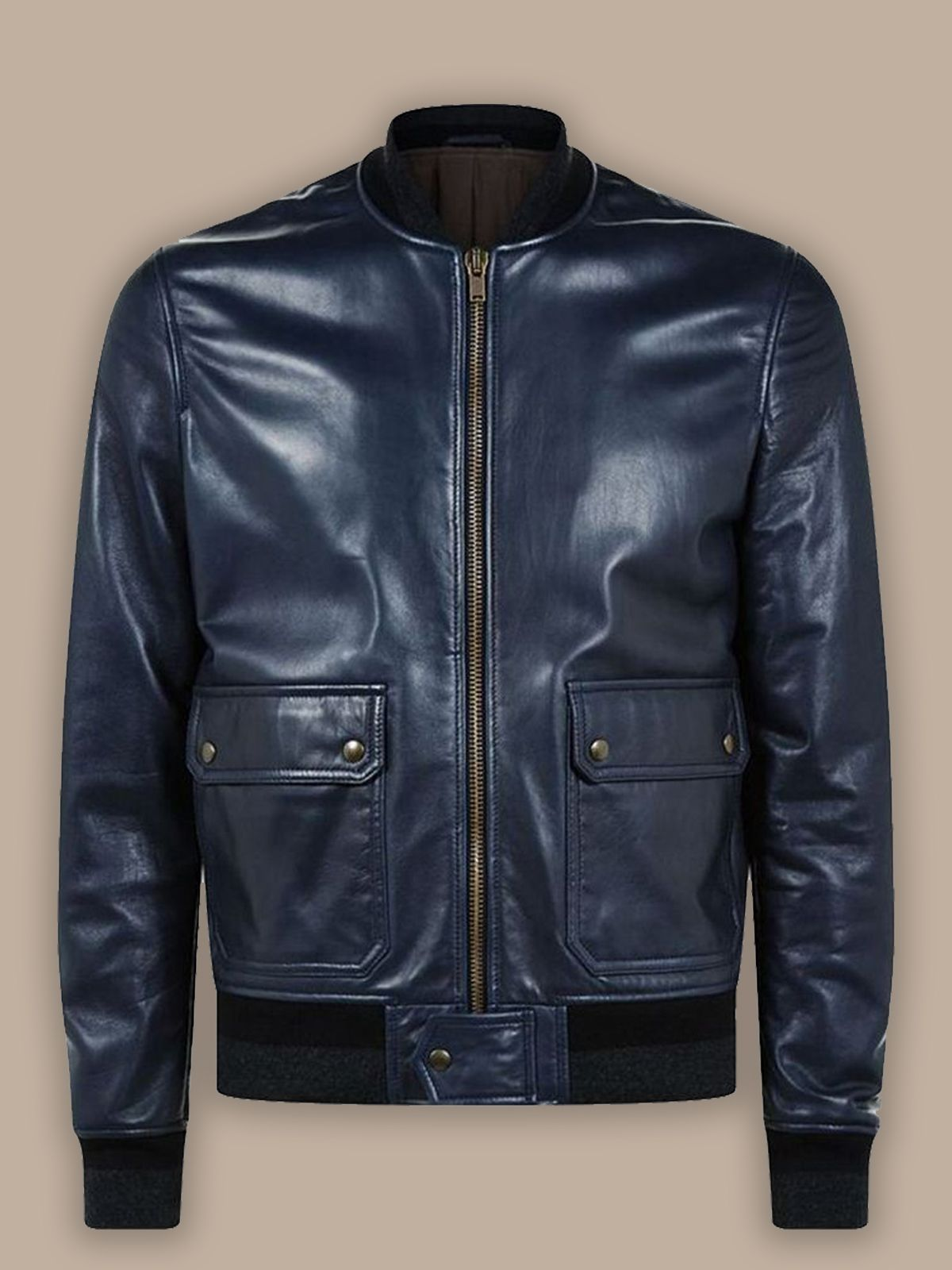 Men Navy Blue Bomber Jacket Men Jacket MauveTree in