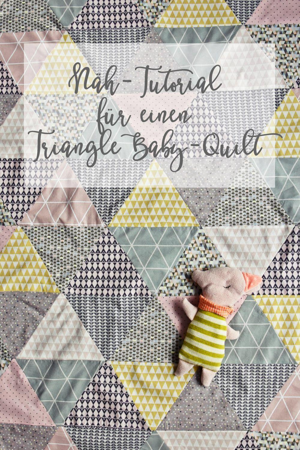 triangle baby quilt n h anleitung babydecke mit dreieck muster zuk nftige projekte n hen. Black Bedroom Furniture Sets. Home Design Ideas