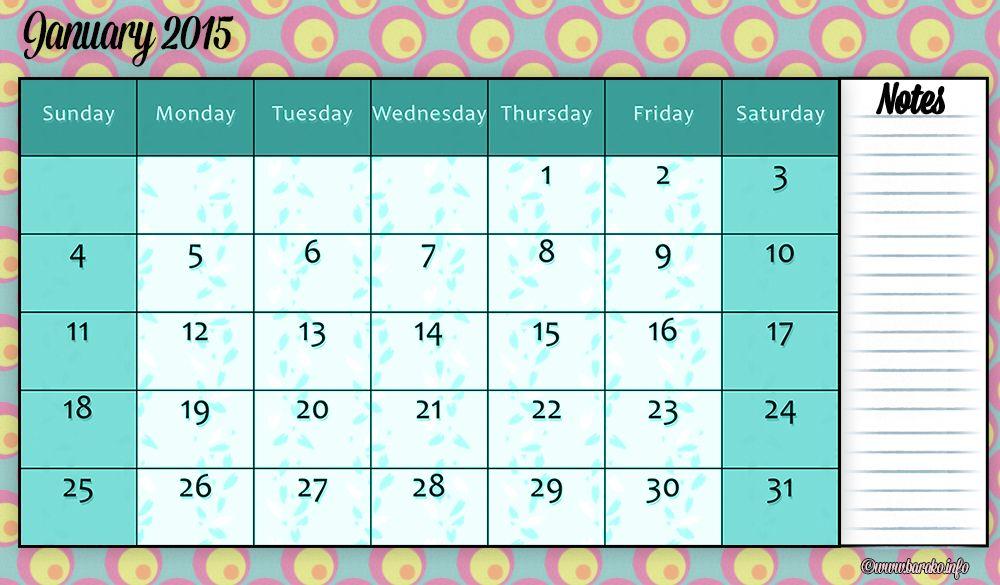 Free Printable January 2015 Calendar Blank Printable Calendar 2014