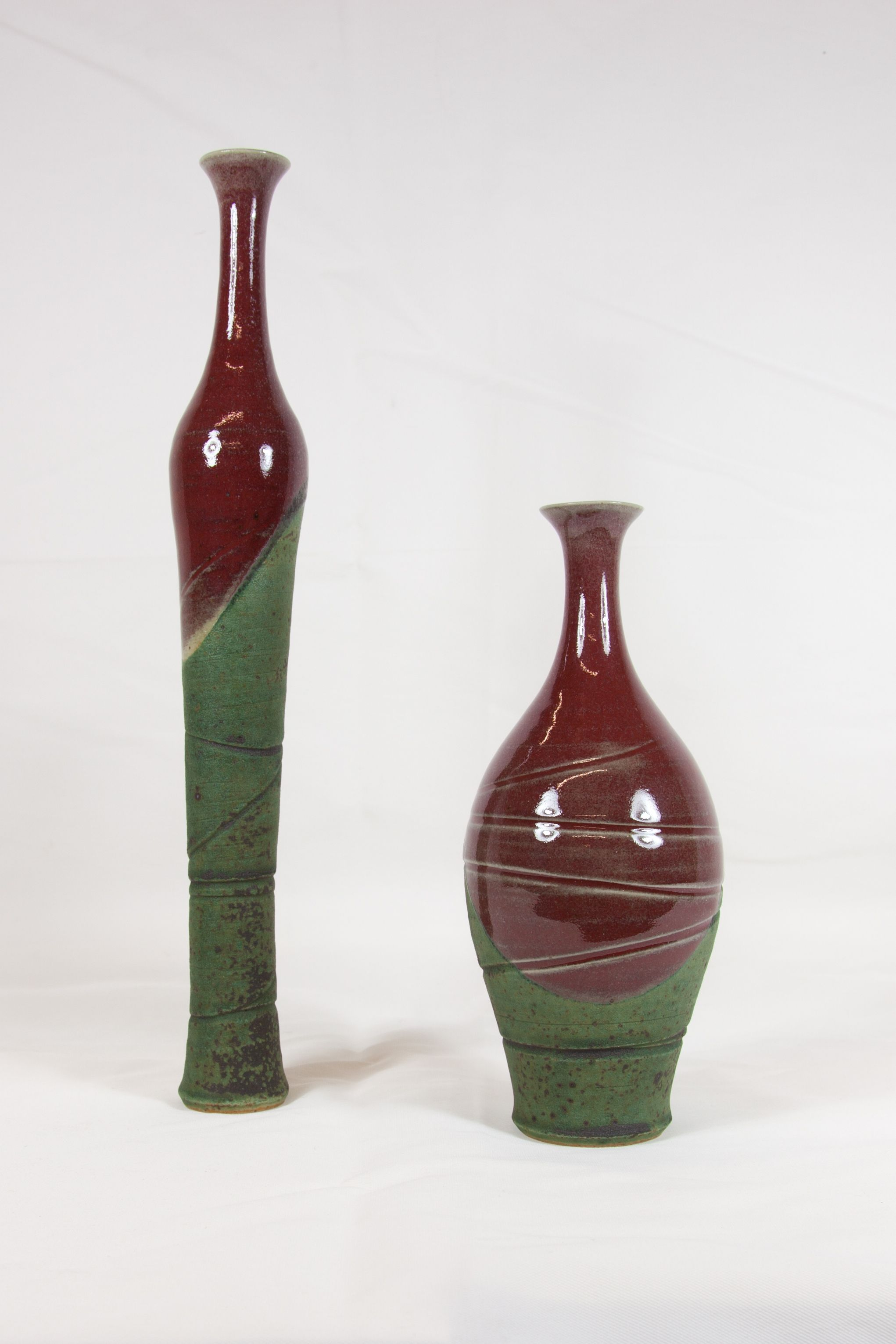 Tall Short Vase In Red Pottery Unique Decorative Pieces That Add A Touch Of Elegance To Any Table Or E