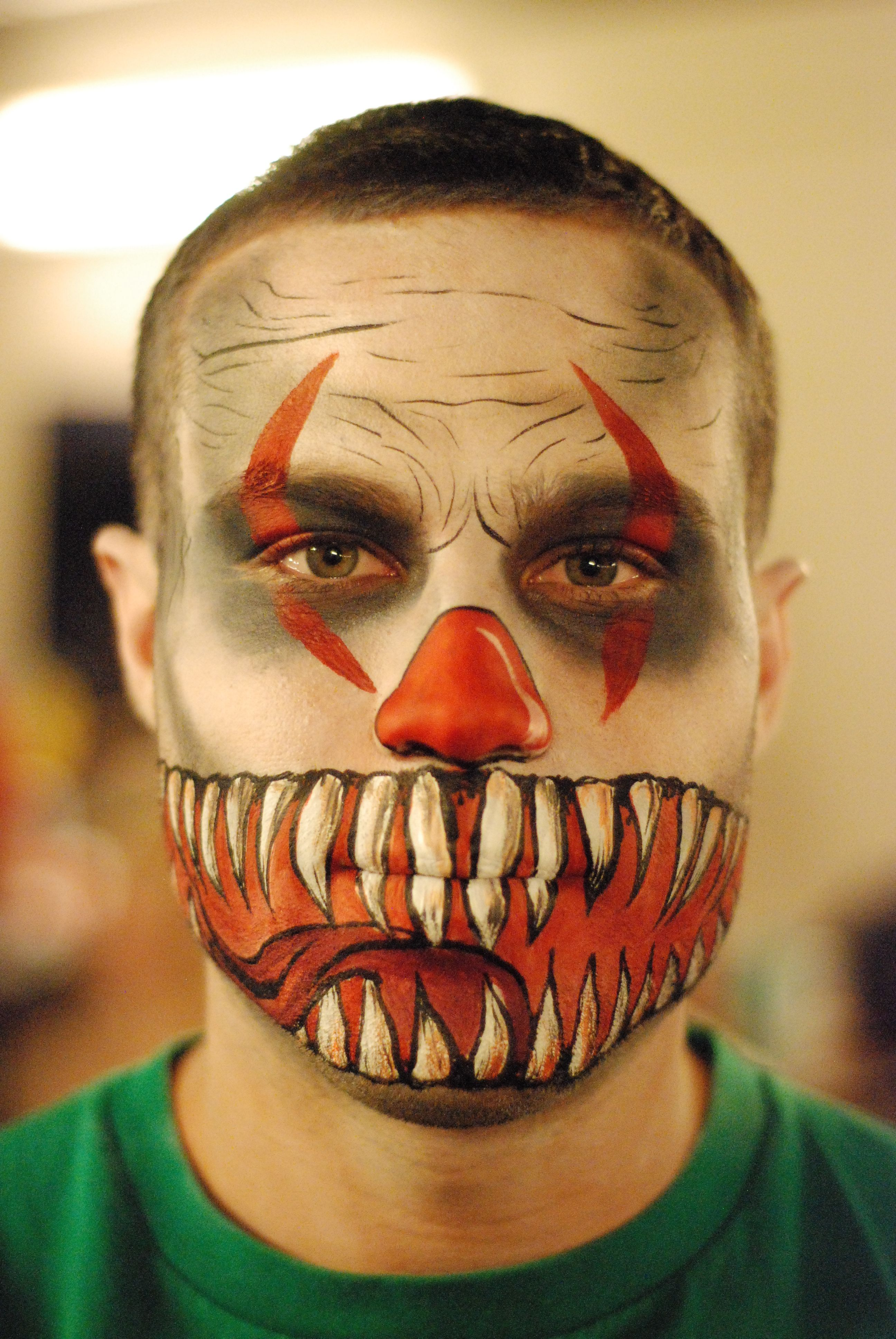 Scary Clown Halloween Make-Up, for Tryst, Las Vegas by Emma ...