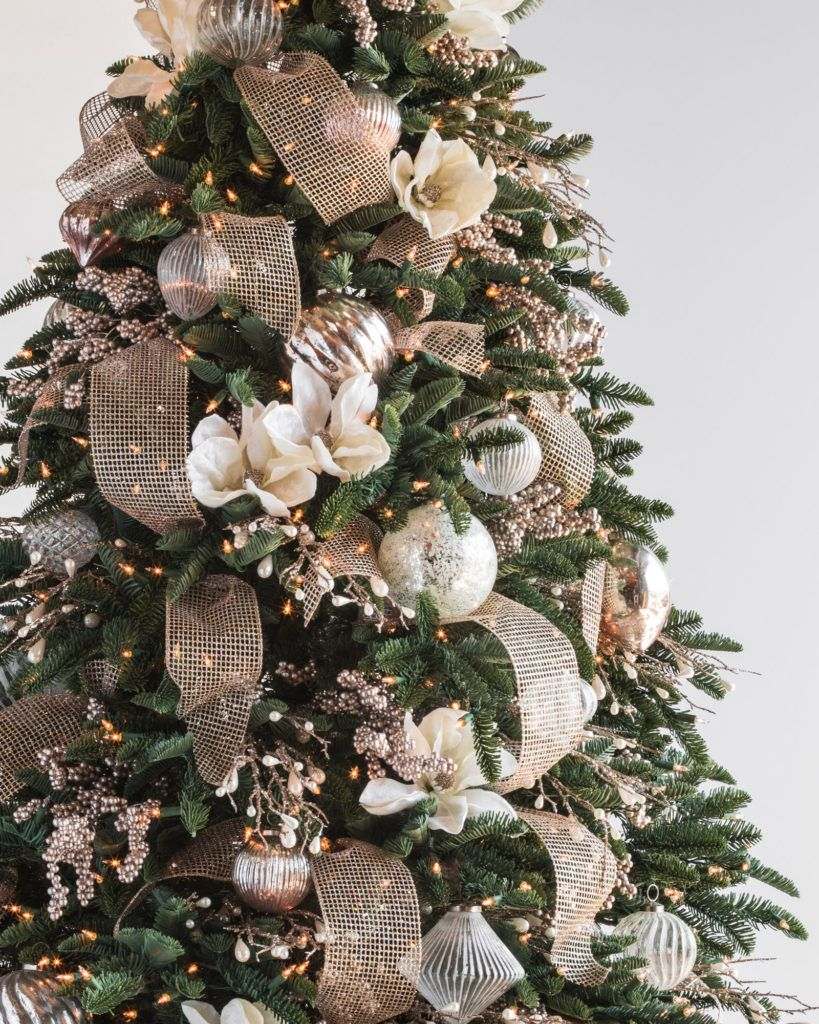 French Country - Christmas Tree Decorating Ideas
