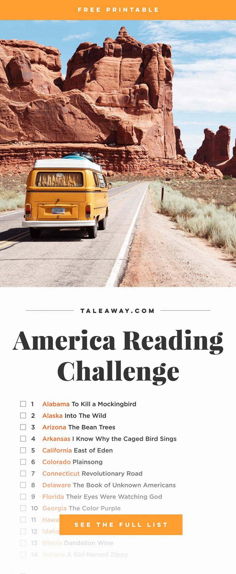 photograph about The Great American Read List Printable referred to as The usa Examining Issue: Publications Preset Within Every single Country ebook