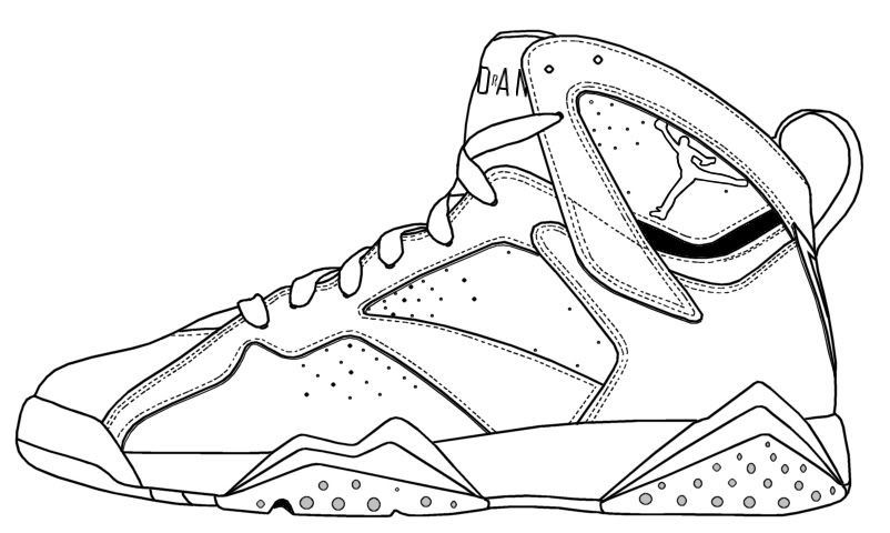 Huarache Shoes Coloring Pages Display