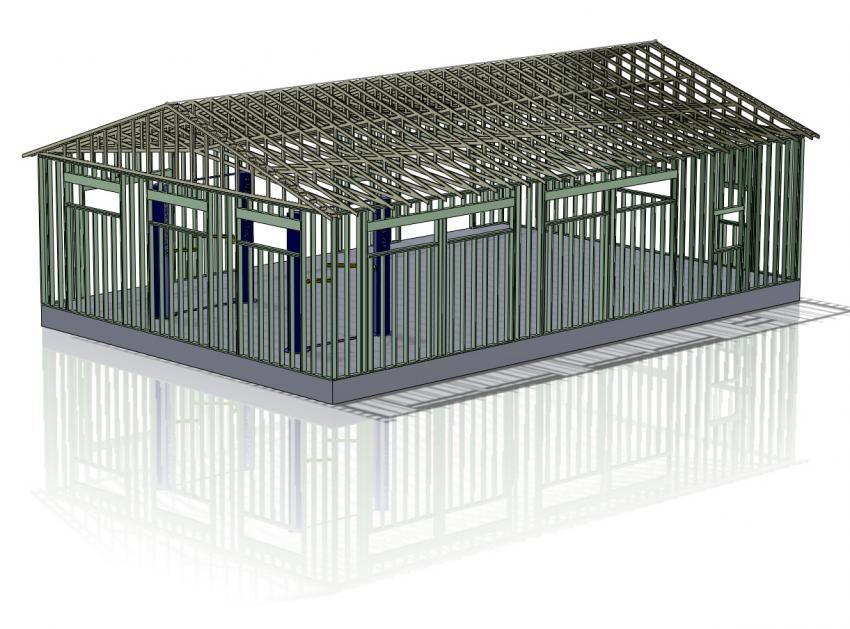 40 X 60 Northwest Garage Build
