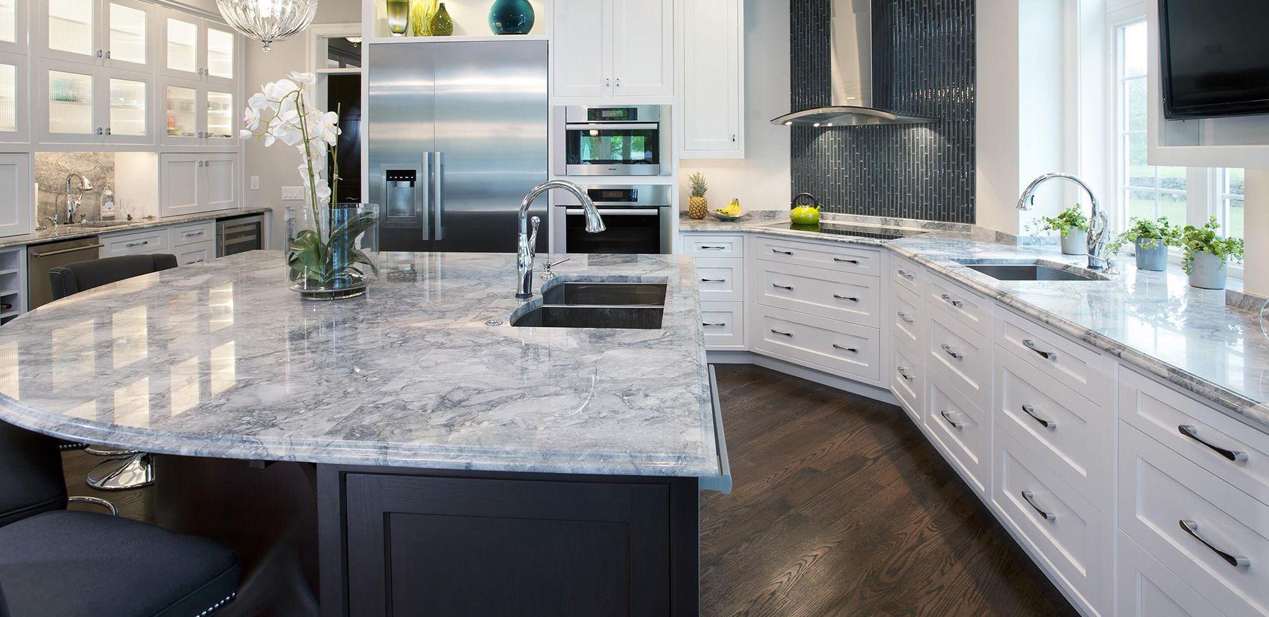 Küchendesign grün weißen granit küchenarbeitsplatten  gelb rot blau weiß grün und