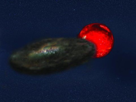 Longest-lasting stellar eclipse: Three-and-a-half year eclipses in binary system