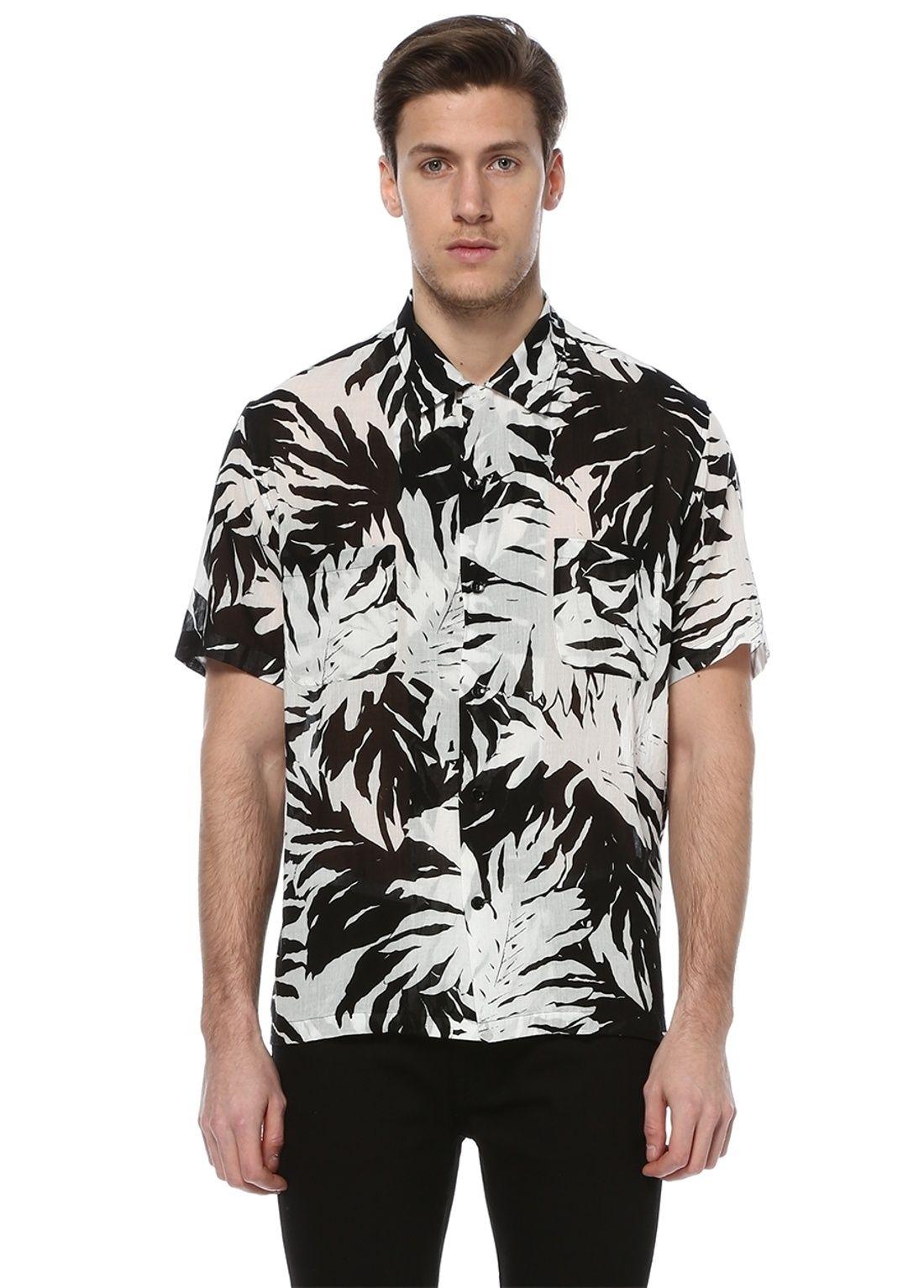 Saint Laurent Paris (Size 39) Floral Short Sleeve Shirt