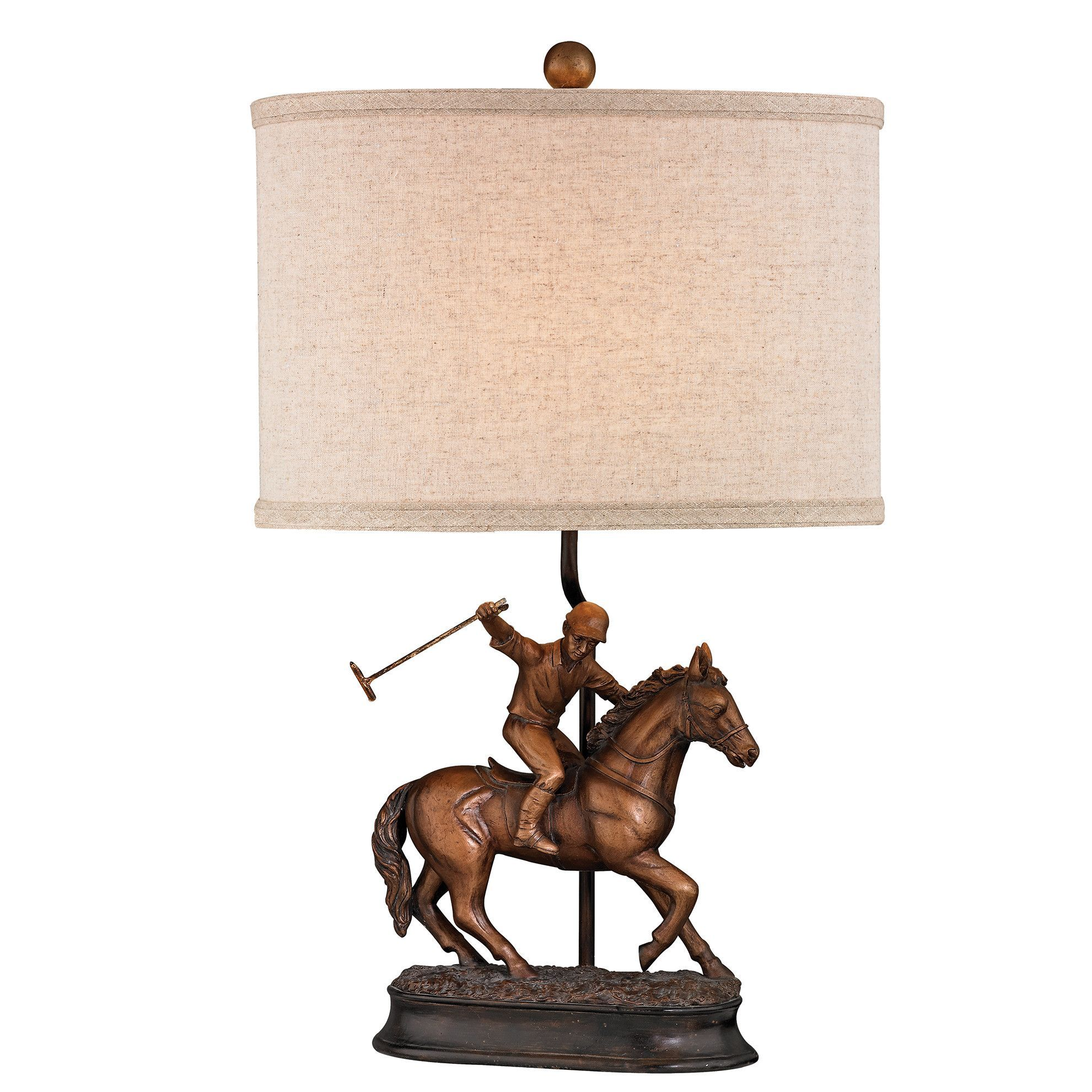 Polo player 21 h table lamp with drum shade lamp standsshades polo player 21 h table lamp with drum shade aloadofball Choice Image