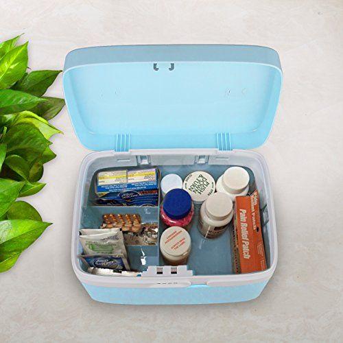 Generic Combination Lock Medicine Cabinet With Separate Compartments Locking Prescription Pill Case Storage Box