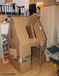 Kreative Kiste Spielhaus Für Kinder Aus Pappe Karton Mit