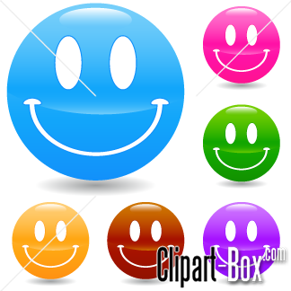 CLIPART COLORFUL SMILING FACES