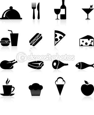 Gourmet food icon set   food icon   Pinterest