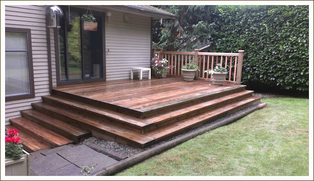 On Point Installations Deck Wrap Around Stairs Deck Stairs