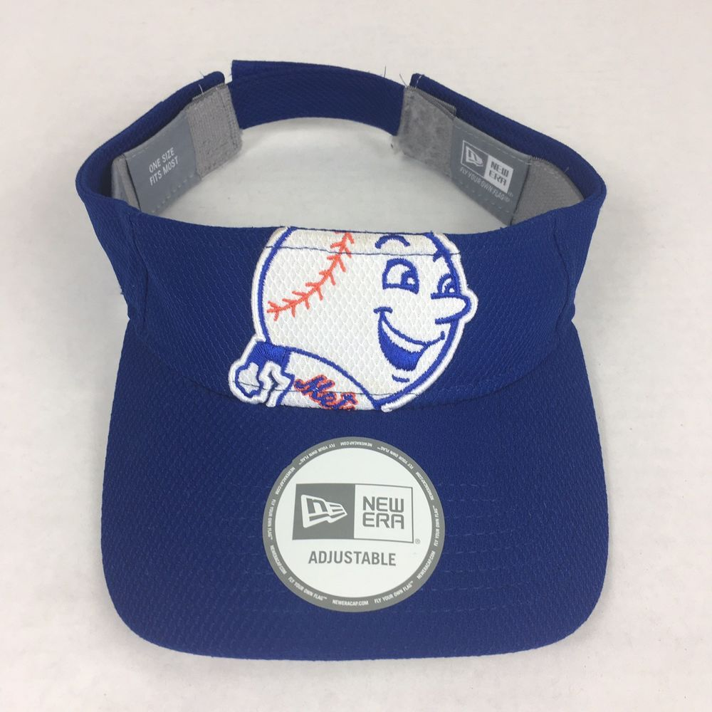 NEW ERA Blue New York Mets Visor One Size Hat Cap MLB/NHL/NFL