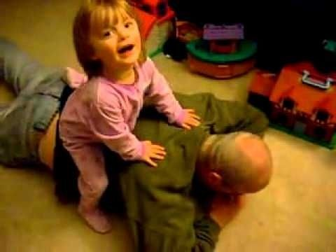 2 year old gives Chiropractic adjustment all-things