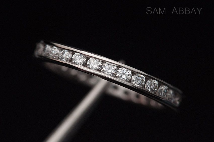 Platinum Wedding Ring With Channel Set Diamonds Made By A Client In My Work