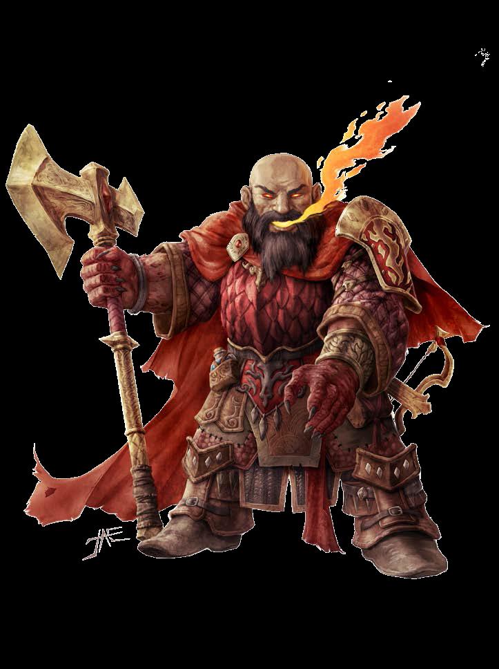 Tiefling Dwarf Blacksmith in Dis: Rikkoja   The Inferno in