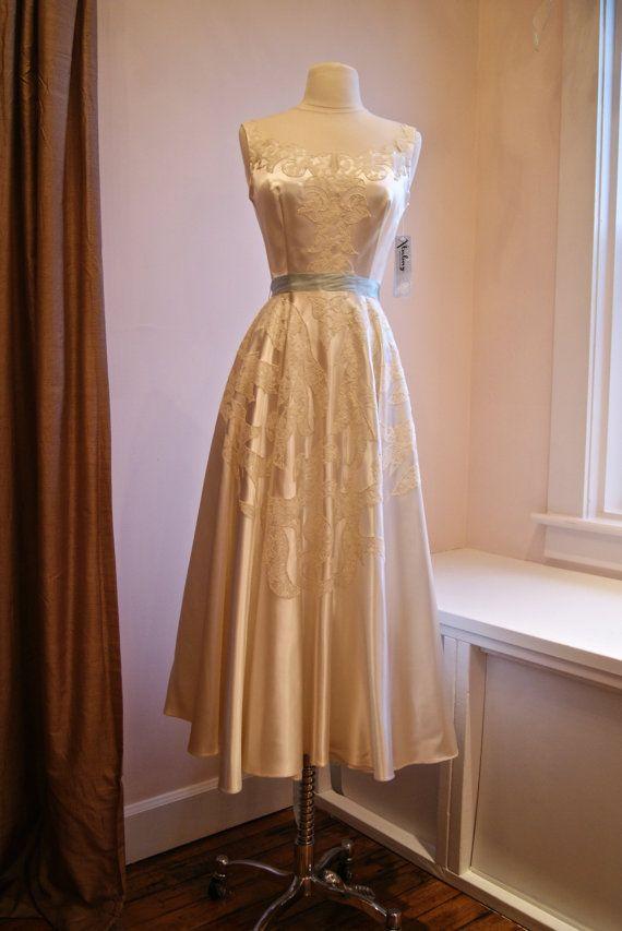 Vintage 1940s Tea Length Dresses